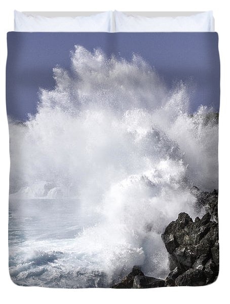 End Of The World Explosion Duvet Cover by Denise Bird