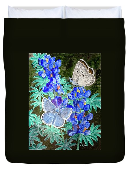 Endangered Mission Blue Butterfly Duvet Cover