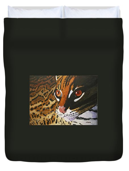Endangered - Ocelot Duvet Cover