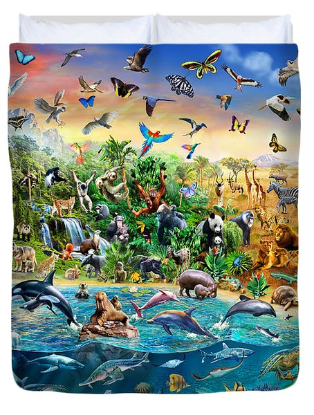 Endangered Species Duvet Cover by Adrian Chesterman