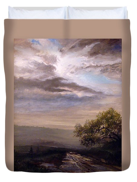 Endless Road Eternal Being Duvet Cover by Mikhail Savchenko