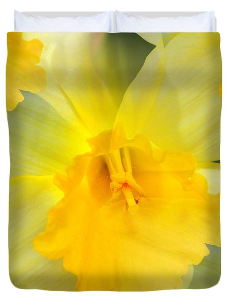 Endless Yellow Daffodil Duvet Cover