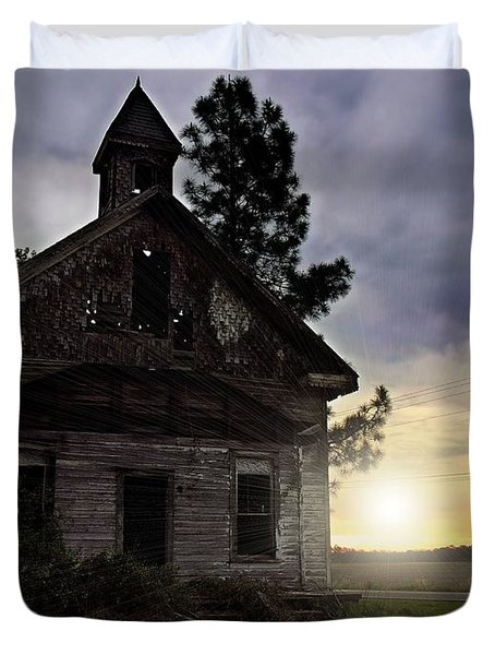 Duvet Cover featuring the photograph Enduring Faith by Laura Ragland