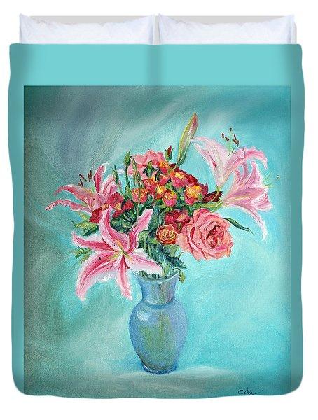 Enduring Love Bouquet Duvet Cover