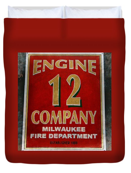 Engine 12 Duvet Cover by Susan  McMenamin