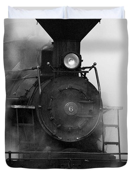 Duvet Cover featuring the photograph Engine No. 6 by Jerry Fornarotto