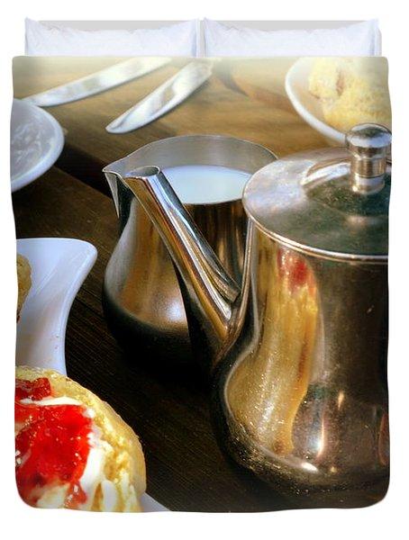 English Cream Tea Duvet Cover
