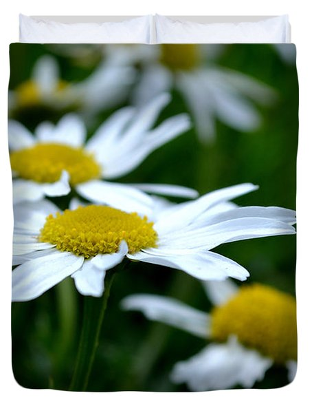 Duvet Cover featuring the photograph English Daisies by Scott Lyons
