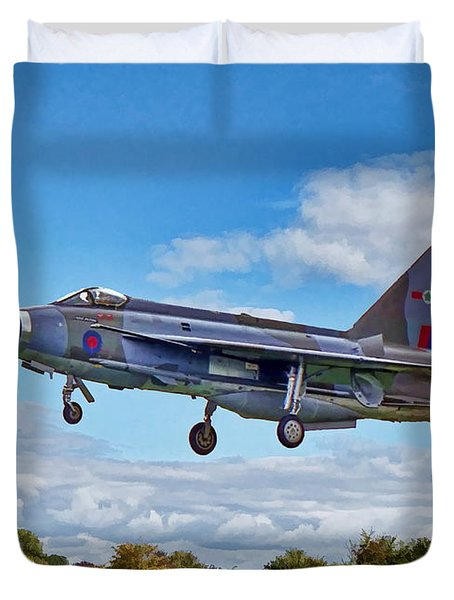 Duvet Cover featuring the photograph English Electric Lightning by Paul Gulliver