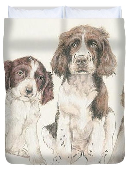 English Springer Spaniel Puppies Duvet Cover