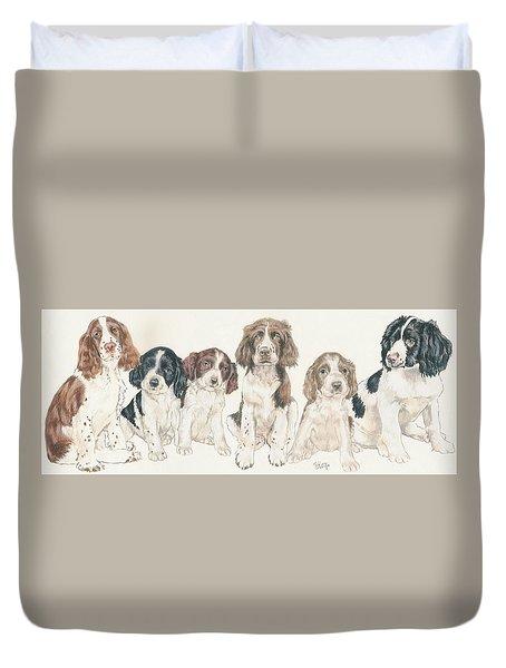 English Springer Spaniel Puppies Duvet Cover