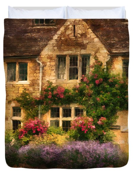 English Stone Cottage Duvet Cover