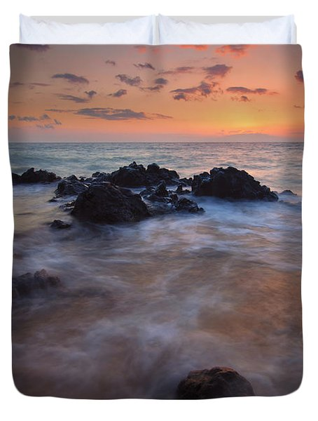Engulfed By The Waves Duvet Cover
