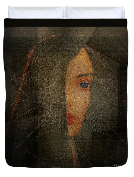 Duvet Cover featuring the photograph Enigma by Irma BACKELANT GALLERIES