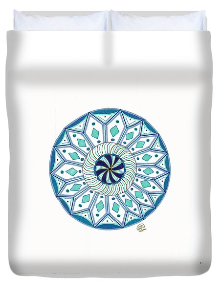 Enjoy The Breath Of Life Duvet Cover by Signe  Beatrice