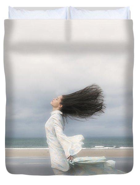 Enjoying The Wind Duvet Cover by Joana Kruse