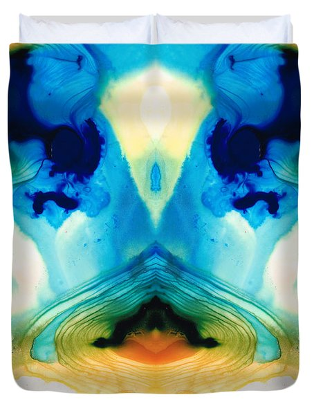 Enlightenment - Abstract Art By Sharon Cummings Duvet Cover by Sharon Cummings