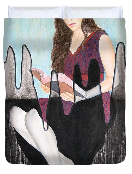 Enlightenment Duvet Cover by Lynet McDonald