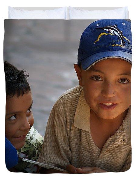 Ensenada Boys 07 Duvet Cover