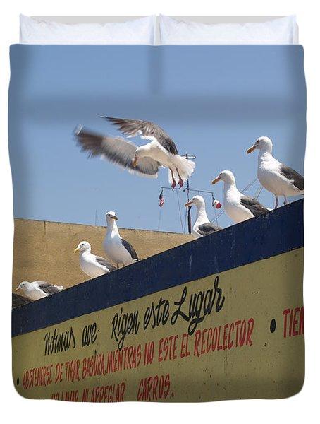 Ensenada Harbour And Fishmarket 40 Duvet Cover