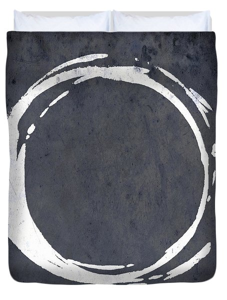 Enso No. 107 Blue Duvet Cover