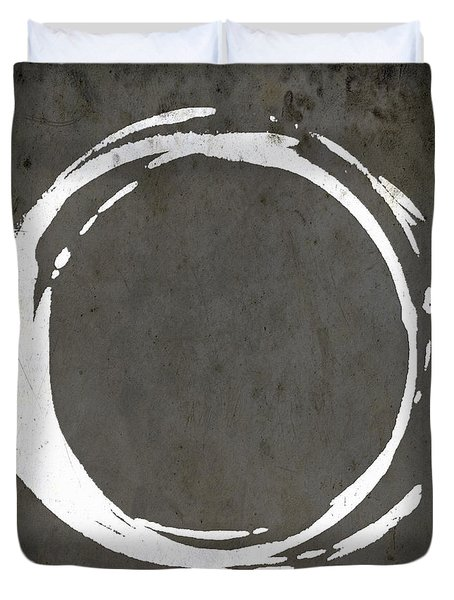 Enso No. 107 Gray Brown Duvet Cover