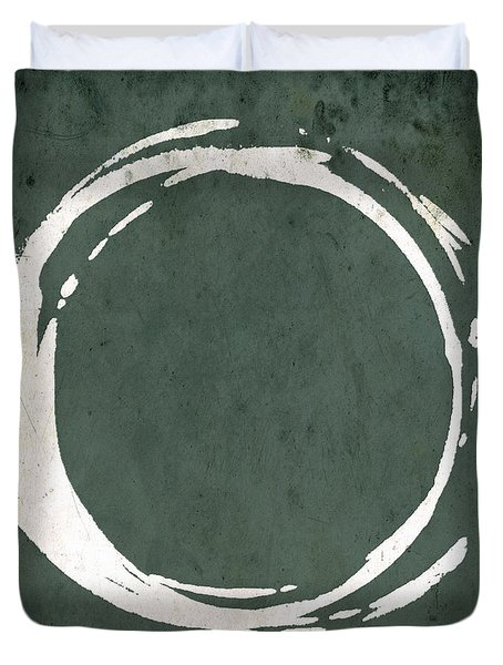 Enso No. 107 Green Duvet Cover