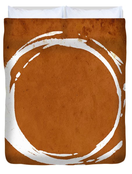 Enso No. 107 Orange Duvet Cover
