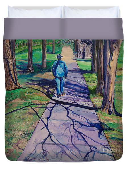 Duvet Cover featuring the painting Entanglement On Highway 98' by Ecinja Art Works