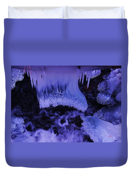 Duvet Cover featuring the photograph Enter The Lair by Sean Sarsfield