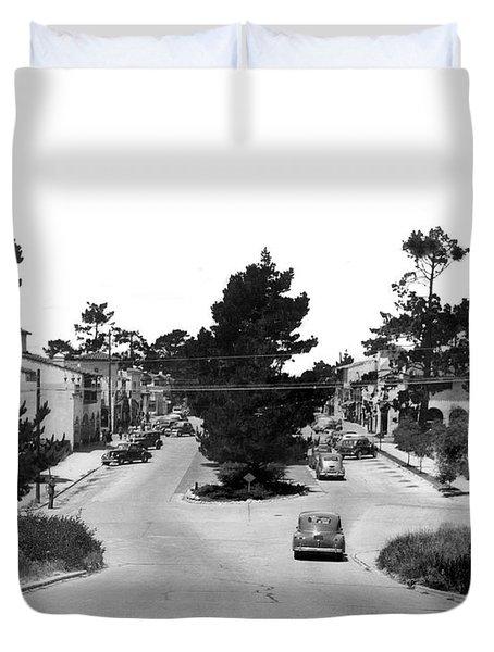 Entering Carmel By The Sea Calif. Circa 1945 Duvet Cover
