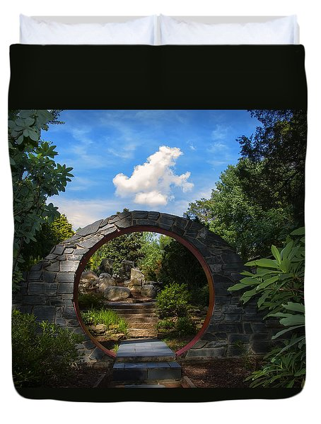Entering The Garden Gate Duvet Cover