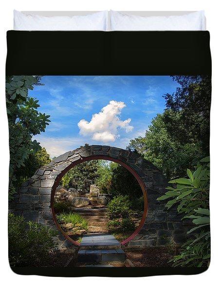 Entering The Garden Gate Duvet Cover