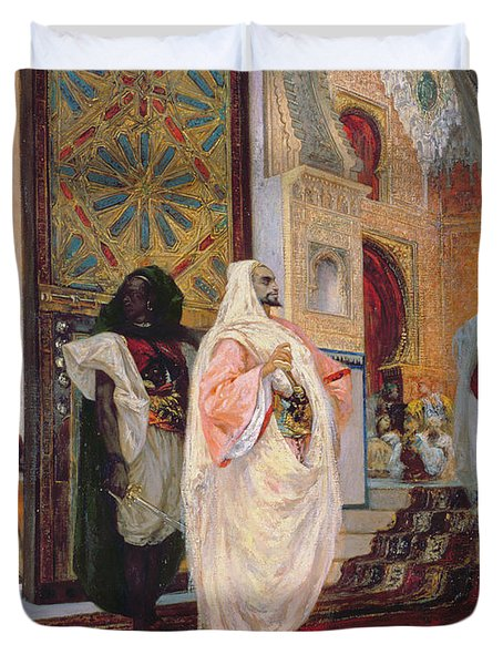 Entering The Harem Duvet Cover by Georges Clairin