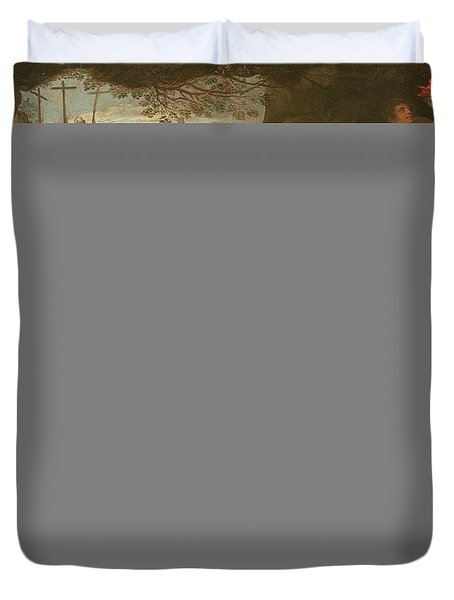 Entombment Oil On Canvas Duvet Cover