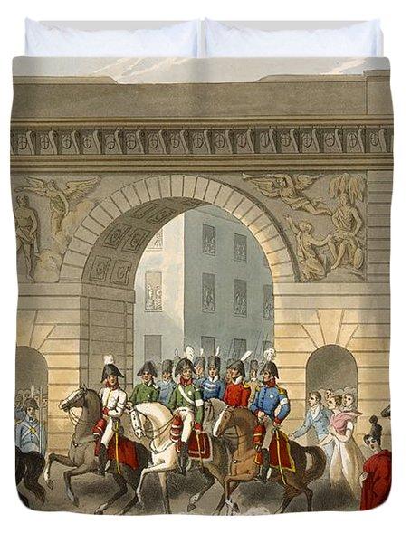 Entrance Of The Allies Into Paris Duvet Cover