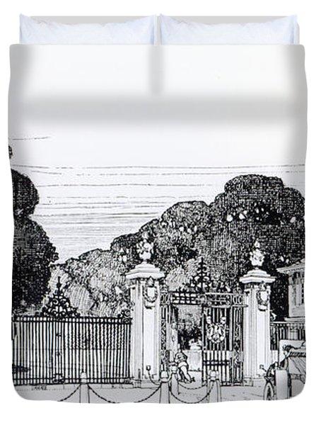 Entrance To Brooklandwood Duvet Cover by Thomas Hayton Mawson