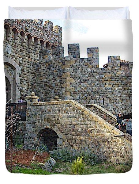 Entrance To Castello Di Amorosa In Napa Valley-ca Duvet Cover