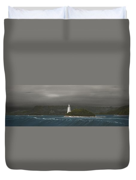 Entrance To Macquarie Harbour - Tasmania Duvet Cover by Tim Mullaney