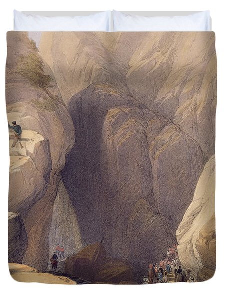 Entrance To The Kojak Pass From Parush Duvet Cover