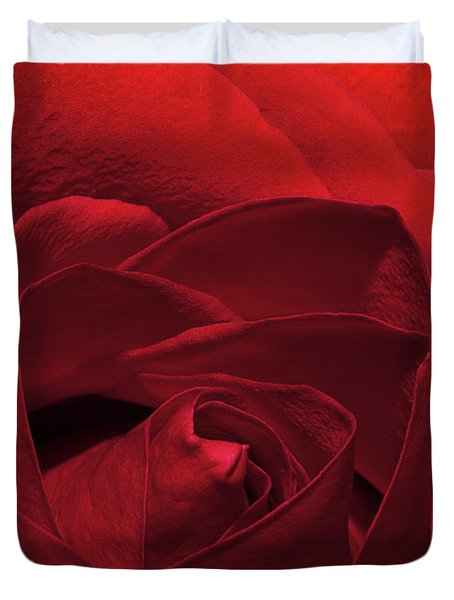 Enveloped In Red Duvet Cover