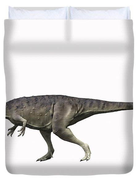 Eocarcharia Dinops, Early Cretaceous Duvet Cover by Nobumichi Tamura