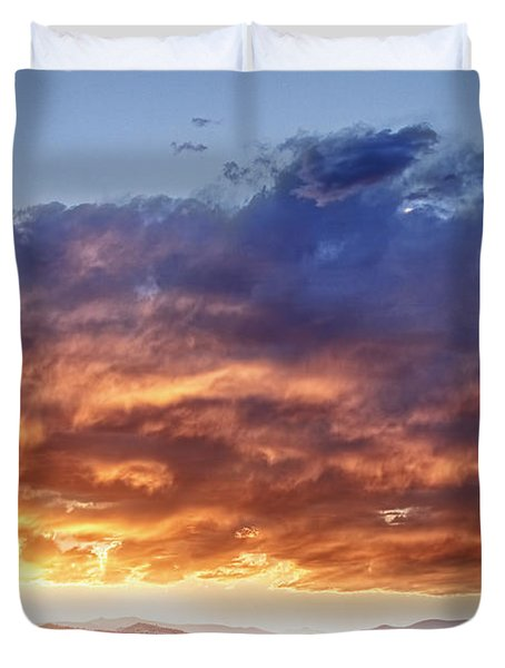 Epic Colorado Country Sunset Landscape Duvet Cover by James BO  Insogna