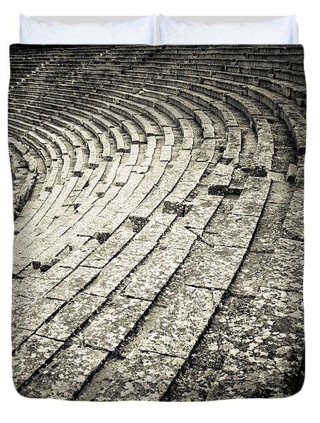 Epidavros Theatre Seats Duvet Cover