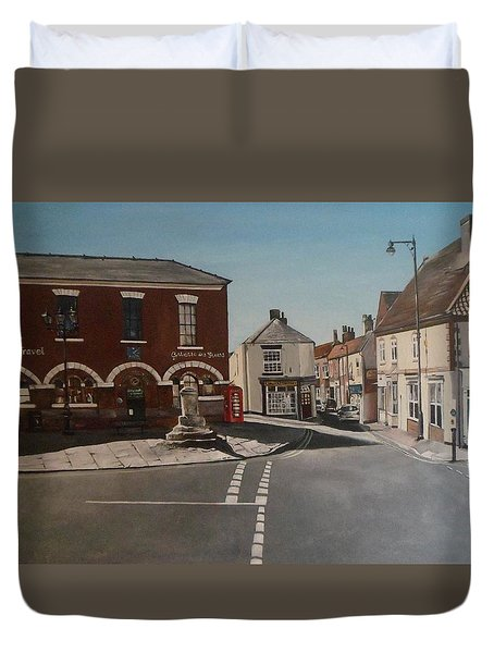 Epworth Cross Duvet Cover by Cherise Foster