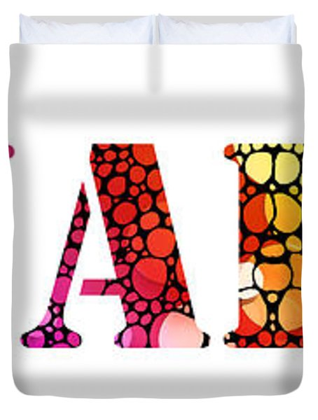 Equality For All 3 - Stone Rock'd Art By Sharon Cummings Duvet Cover