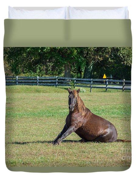 Equestrian Rollick Duvet Cover