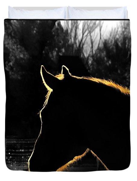 Equine Glow Duvet Cover