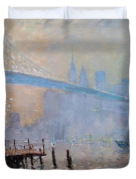 Erbora And The Seagulls Duvet Cover