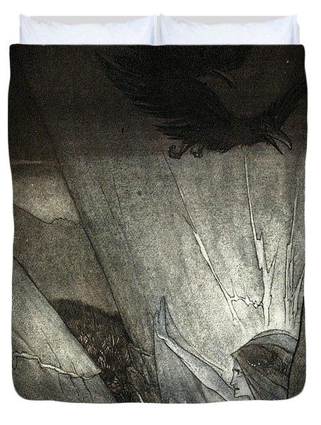 Erda Bids Thee Beware, Illustration Duvet Cover